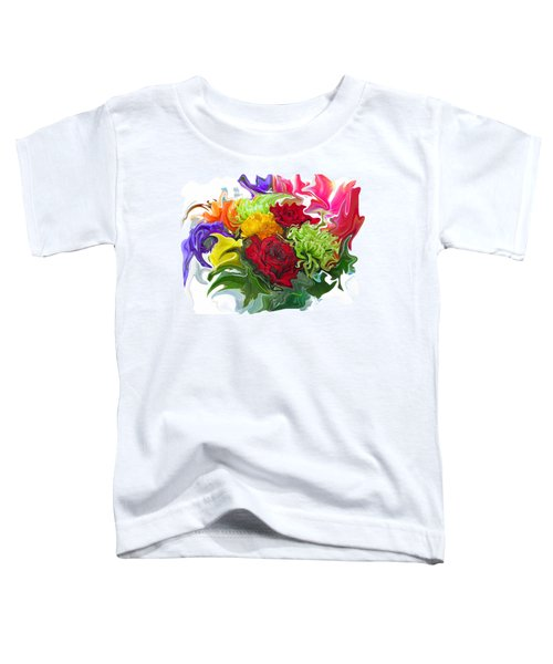 Colorful Bouquet Toddler T-Shirt by Kathy Moll
