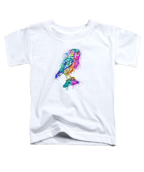 Colorful Owl Toddler T-Shirt by Marian Voicu