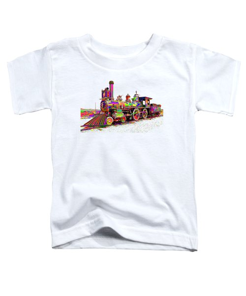 Colorful Steam Locomotive Toddler T-Shirt by Samuel Majcen