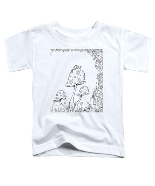 Coloring Page With Beautiful In The Garden 8 Drawing By Megan Duncanson Toddler T-Shirt by Megan Duncanson