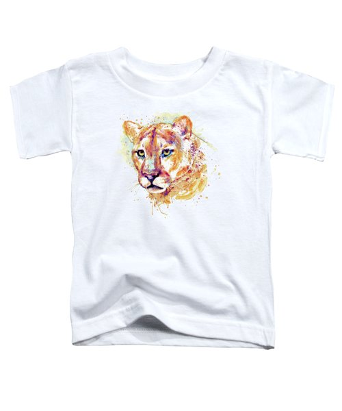 Cougar Head Toddler T-Shirt by Marian Voicu