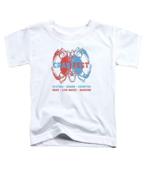 Crab Fest Tee Toddler T-Shirt by Edward Fielding