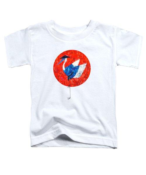 Crane Toddler T-Shirt by Daryna Skulska