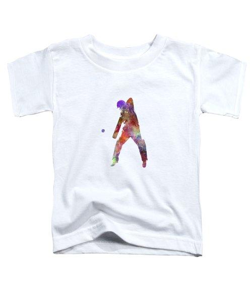 Cricket Player Batsman Silhouette 02 Toddler T-Shirt by Pablo Romero