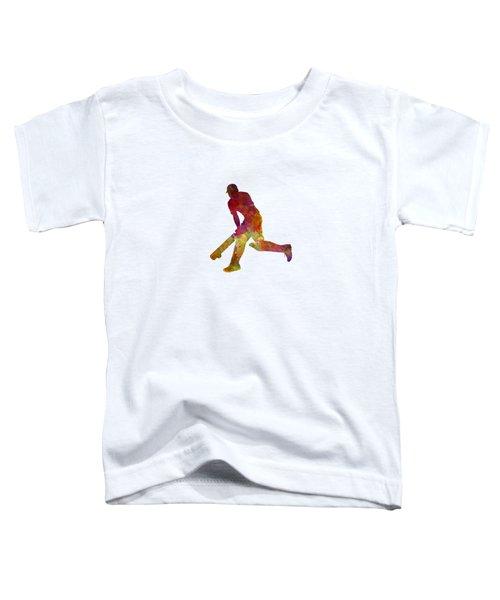 Cricket Player Batsman Silhouette 03 Toddler T-Shirt by Pablo Romero