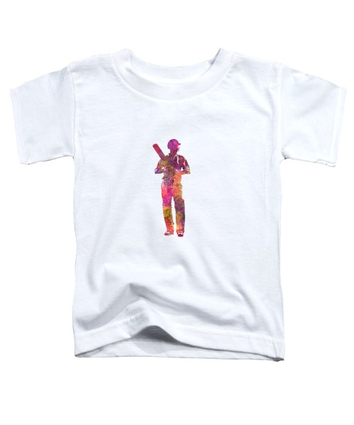 Cricket Player Batsman Silhouette 10 Toddler T-Shirt by Pablo Romero