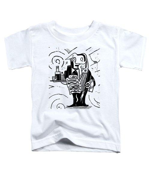 Cubist Waiter Toddler T-Shirt by Erki Schotter