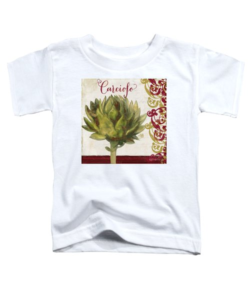 Cucina Italiana Artichoke Toddler T-Shirt by Mindy Sommers