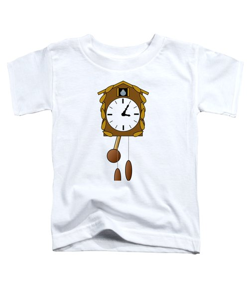 Cuckoo Clock Toddler T-Shirt by Miroslav Nemecek