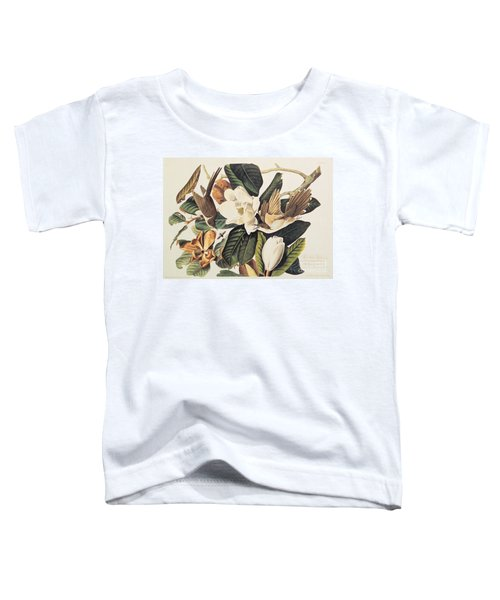 Cuckoo On Magnolia Grandiflora Toddler T-Shirt by John James Audubon
