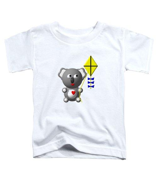Cute Koala With Kite Toddler T-Shirt by Rose Santuci-Sofranko