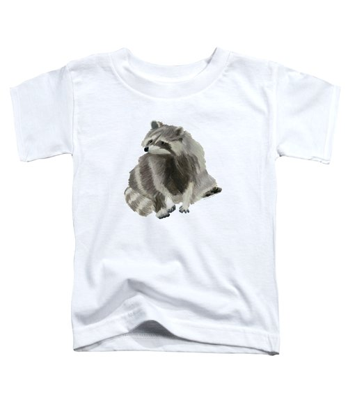 Cute Raccoon Toddler T-Shirt by Dominic White