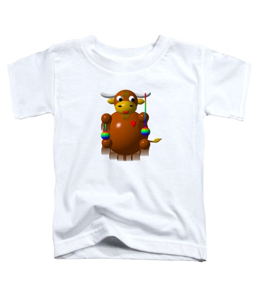 Cute Yak With Yo Yos Toddler T-Shirt by Rose Santuci-Sofranko