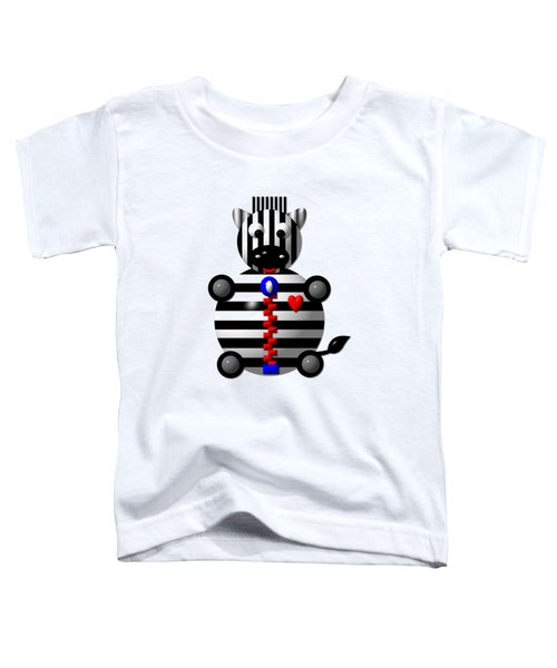 Cute Zebra With A Zipper Toddler T-Shirt by Rose Santuci-Sofranko