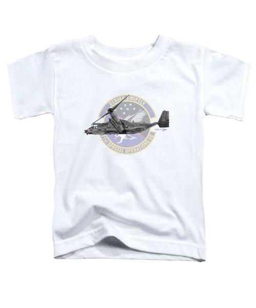 Cv-22b Osprey 71sos Toddler T-Shirt by Arthur Eggers
