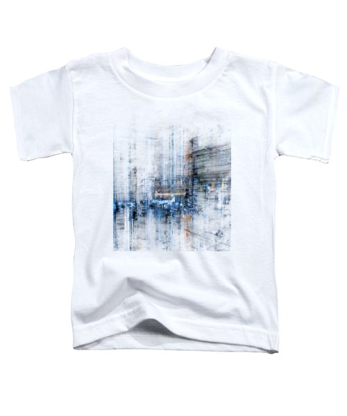 Cyber City Design Toddler T-Shirt by Martin Capek