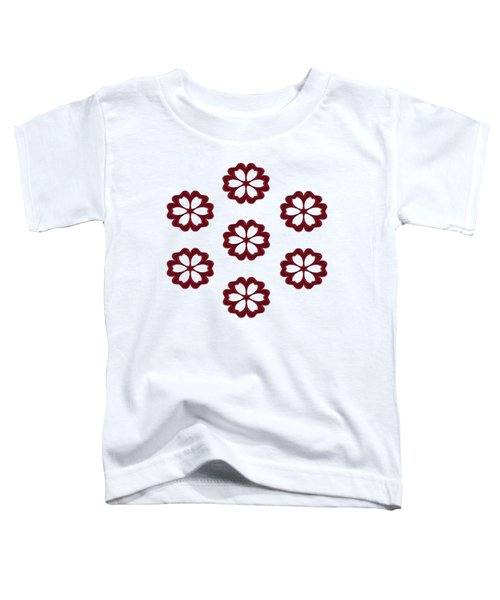 Cyber Flower Red Toddler T-Shirt by Daniel Hagerman
