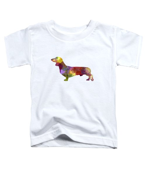 Dachshund In Watercolor Toddler T-Shirt by Pablo Romero