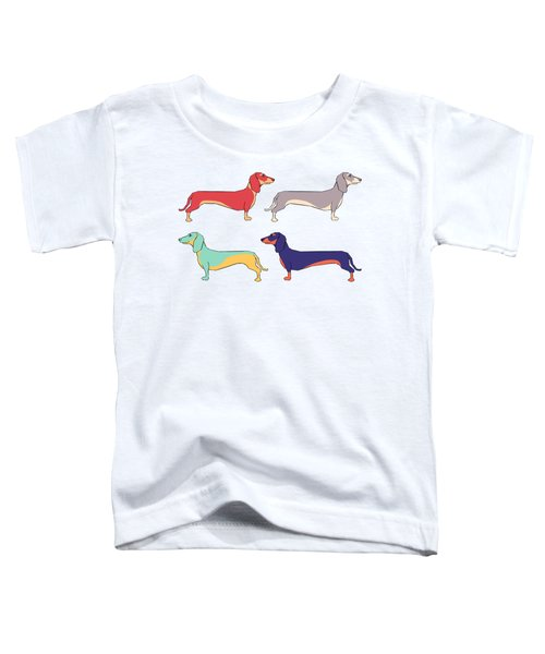 Dachshunds Toddler T-Shirt by Kelly Jade King