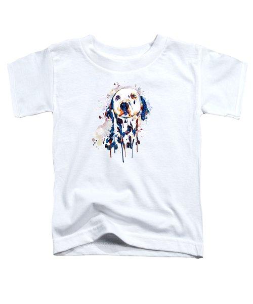 Dalmatian Head Toddler T-Shirt by Marian Voicu