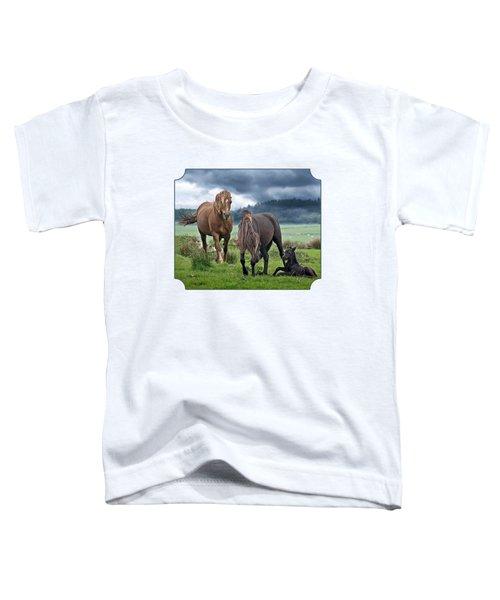 Dartmoor Ponies Toddler T-Shirt by Gill Billington