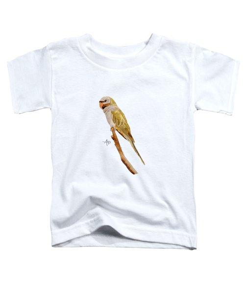Derbyan Parakeet Toddler T-Shirt by Angeles M Pomata