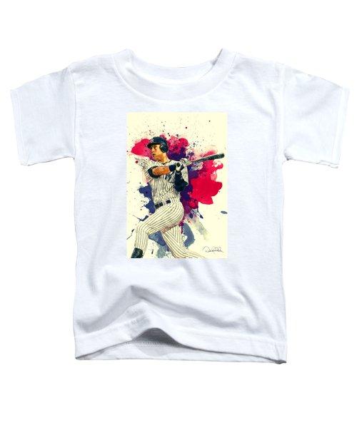 Derek Jeter Toddler T-Shirt by Taylan Apukovska