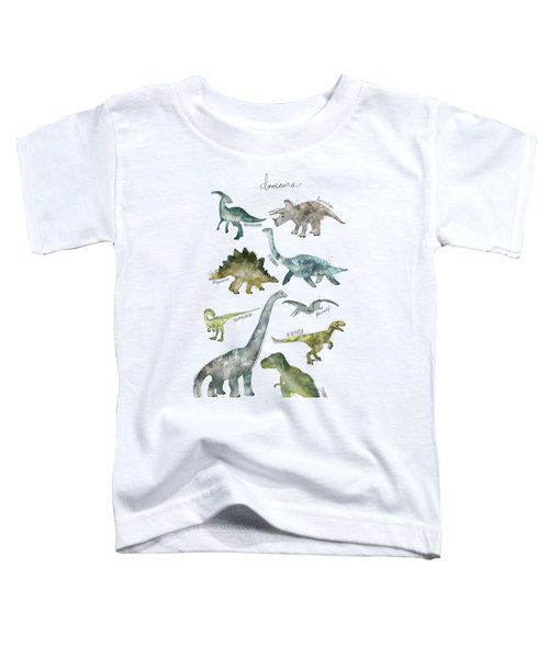 Dinosaurs Toddler T-Shirt by Amy Hamilton