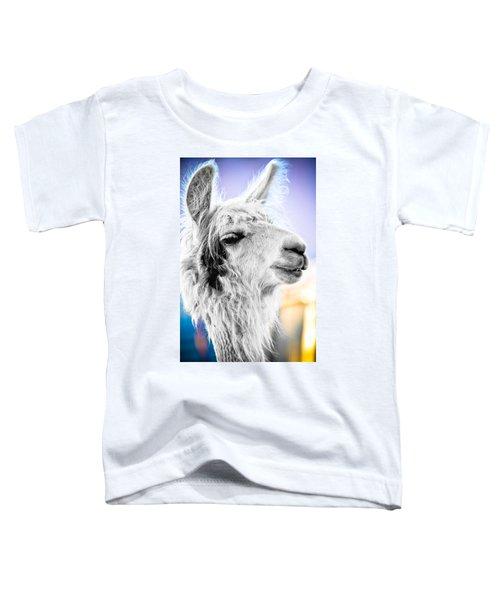 Dirtbag Llama Toddler T-Shirt by TC Morgan