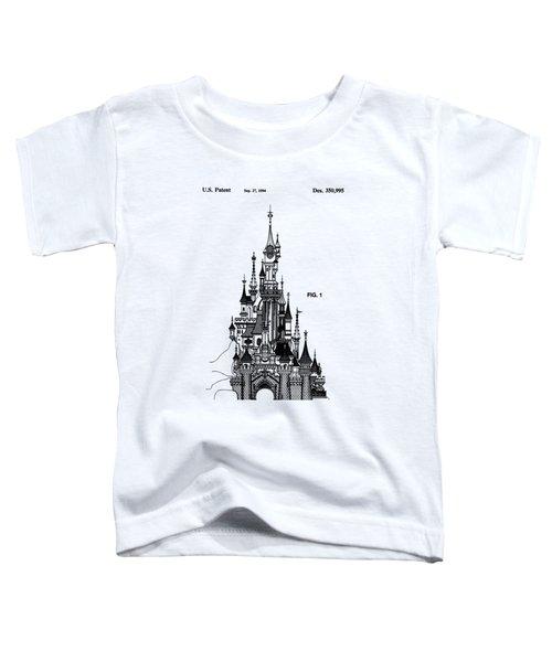 Disneyland Castle Patent Art Toddler T-Shirt by Safran Fine Art
