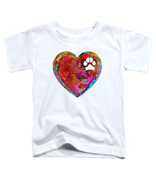 Dog Art - Puppy Love 2 - Sharon Cummings Toddler T-Shirt by Sharon Cummings