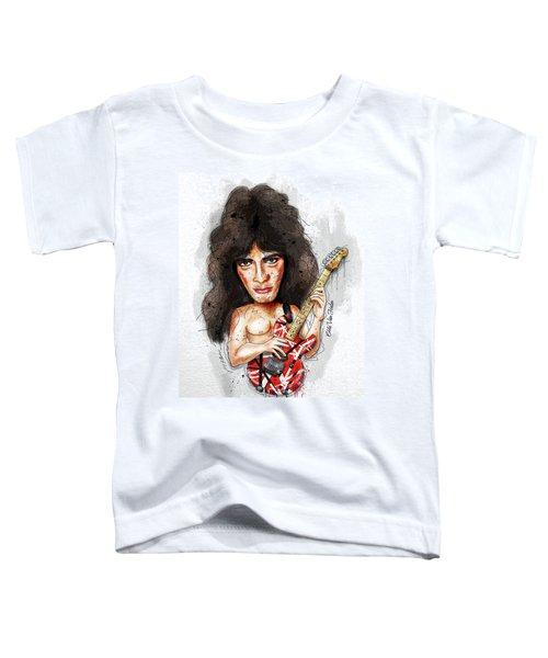 Eddie Van Halen Toddler T-Shirt by Gary Bodnar