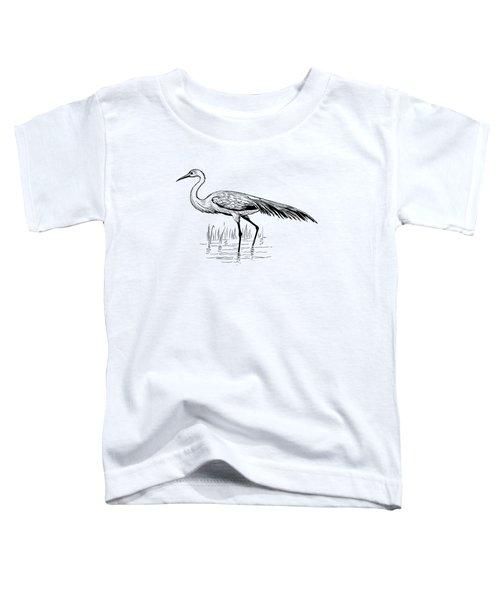 Egret Toddler T-Shirt by Mordax Furittus
