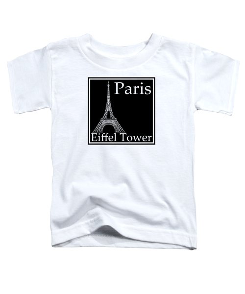 Eiffel Tower In Black Toddler T-Shirt by Custom Home Fashions