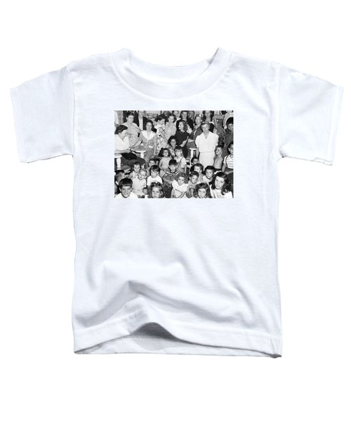 Eleanor Roosevelt And Children Toddler T-Shirt by Underwood Archives