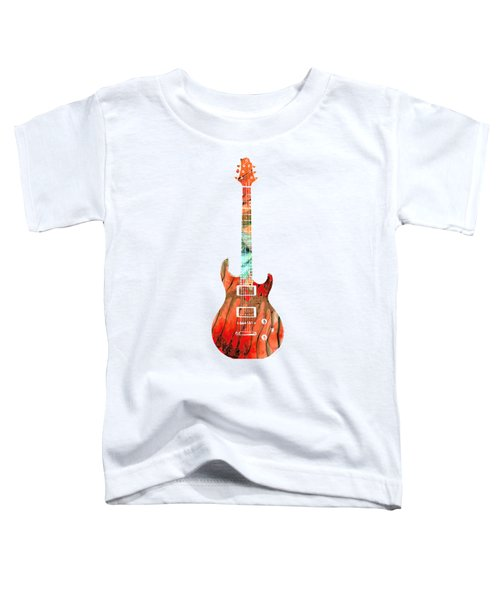 Electric Guitar 2 - Buy Colorful Abstract Musical Instrument Toddler T-Shirt by Sharon Cummings