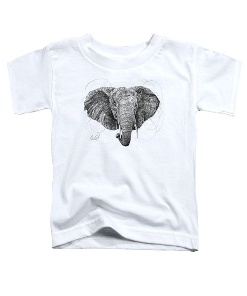 Elephant Toddler T-Shirt by Michael Volpicelli