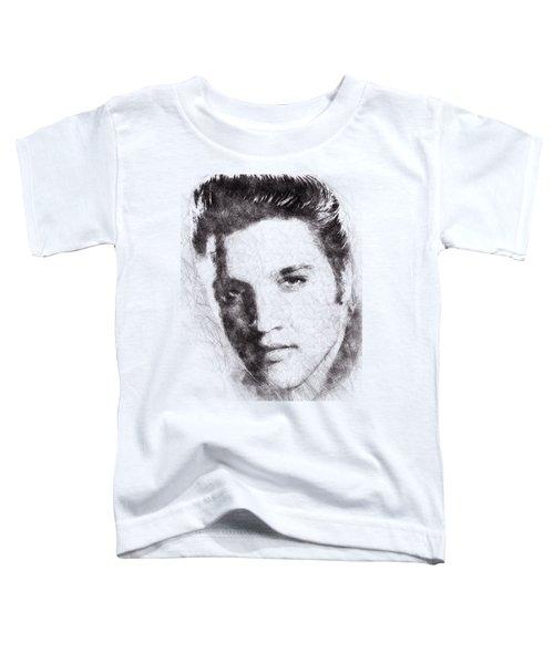Elvis Presley Portrait 02 Toddler T-Shirt by Pablo Romero