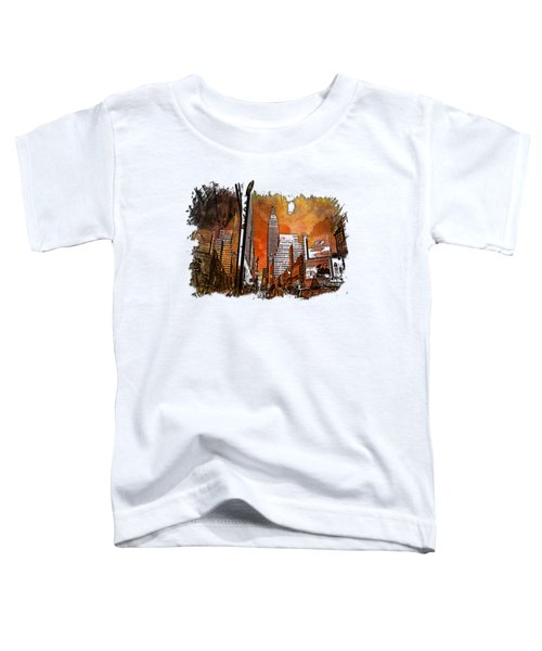 Empire State Reflections Earthy Rainbow 3 Dimensional Toddler T-Shirt by Di Designs