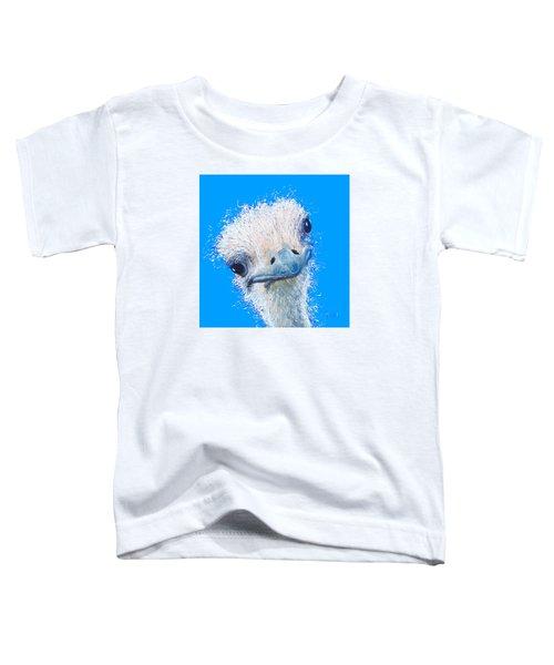 Emu Painting Toddler T-Shirt by Jan Matson