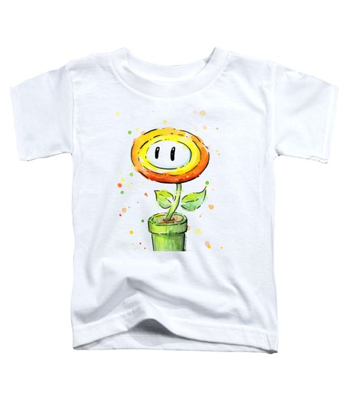 Fireflower Watercolor Toddler T-Shirt by Olga Shvartsur