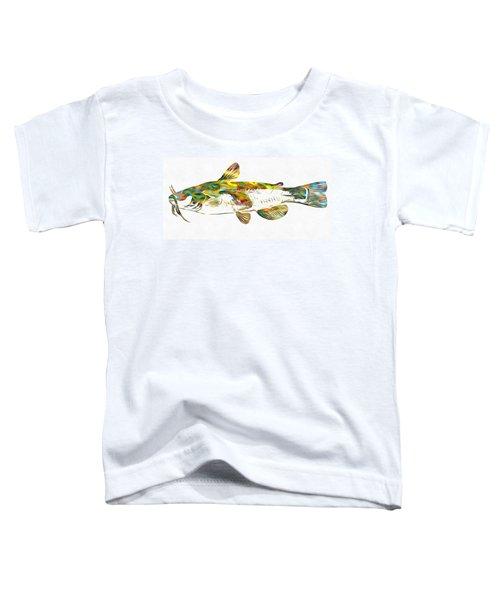 Fish Art Catfish Toddler T-Shirt by Dan Sproul