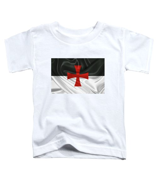 Flag Of The Knights Templar Toddler T-Shirt by Serge Averbukh