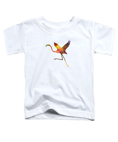 Flamingo 02 In Watercolor Toddler T-Shirt by Pablo Romero