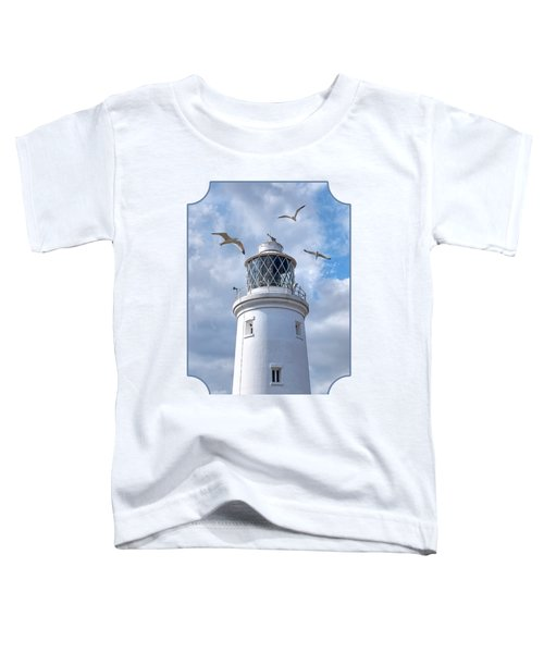 Fly Past - Seagulls Round Southwold Lighthouse Toddler T-Shirt by Gill Billington