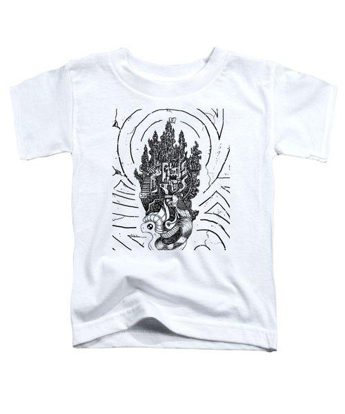 Flying Castle Toddler T-Shirt by Erki Schotter