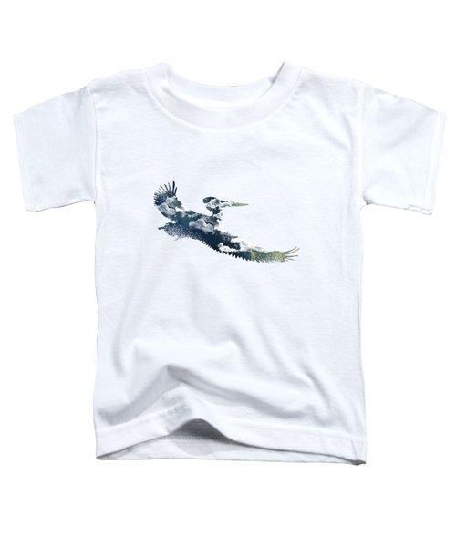 Flying Pelican Toddler T-Shirt by Diana Van