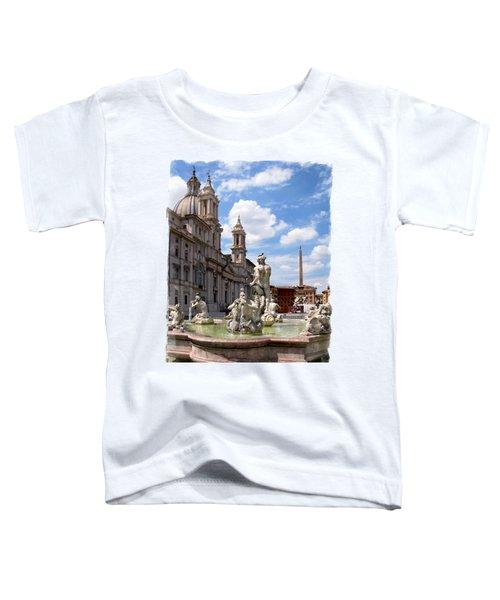 Fontana Del Moro.rome Toddler T-Shirt by Jennie Breeze