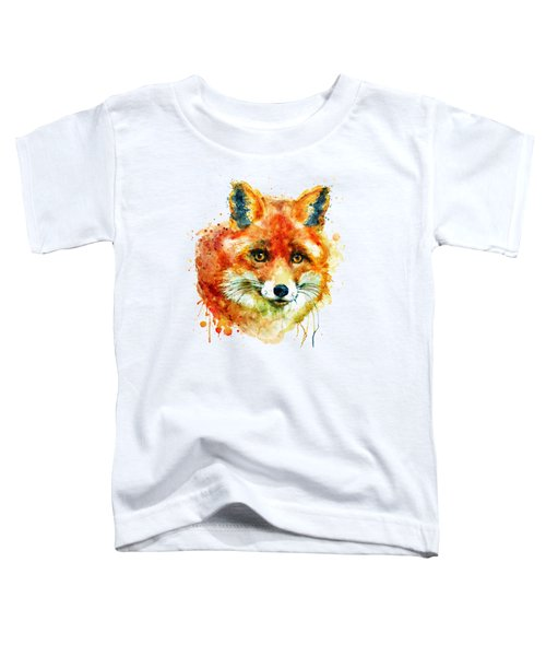 Fox Head Toddler T-Shirt by Marian Voicu