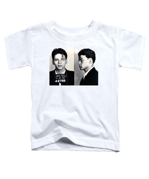 Frank Sinatra Mug Shot Horizontal Toddler T-Shirt by Tony Rubino